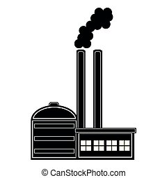 Geothermal power plant icon. Vector illustration design