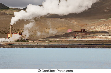 Geothermal power station and pipes in Iceland - Geothermal ...