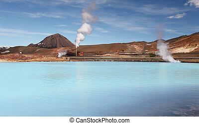 Geothermal Power Station - Turquoise Lake, Iceland