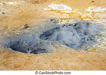 geothermisch, bereich, in, island
