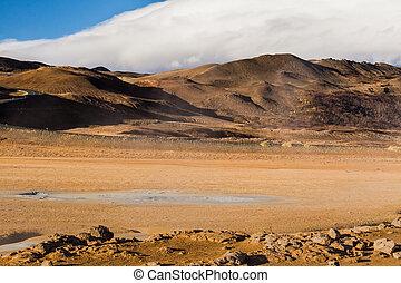 geothermisch, bereich, island, myvatn