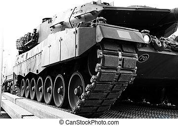 gepanzert, reservoir, voertuig