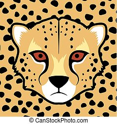 gepard face illustration - Creative design of gepard face...