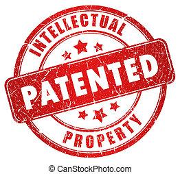 gepatenteerde, postzegel
