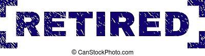 gepensioneerd, postzegel, hoeken, binnen, textured, zeehondje, grunge