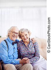 gepensioneerden, paar