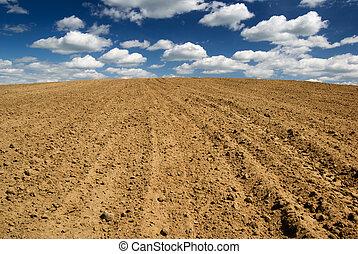 gepflügt, field.