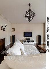 geräumig, und, stilvoll, wohnzimmer