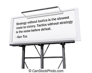 geräusch, taktiken, text, strecke, strategie, victory.,...