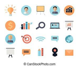 gerência, ícones, tempo, dispositivos, jogo, digital
