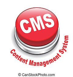 gerência, botão, ilustração, system), (content, cms, 3d