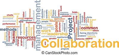 gerência, colaboração, conceito, fundo