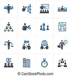gerência, e, ícones negócio