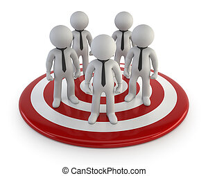 gerência, liderar, pessoas, -, pequeno, 3d