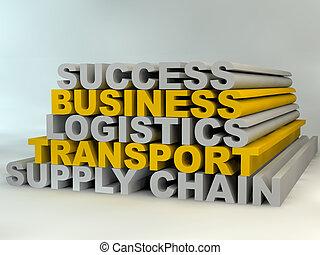 gerência, negócio, sucesso, fornecer, chumbos, corrente