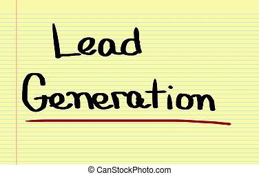 geração, conceito, liderar