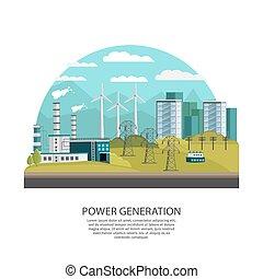 geração, conceito, poder