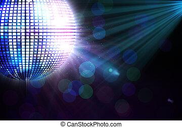 gerado, discoteca, digitalmente, bola