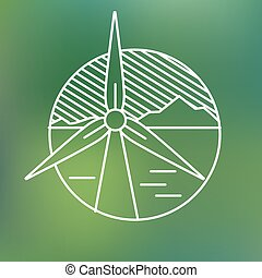 gerando, linear, eco, concept., planeta, electricidade,...
