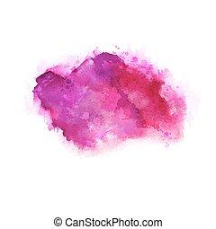 geranium, het rosa, och, magenta, vattenfärg, stains., blank färg, element, för, abstrakt, artistisk, bakgrund.
