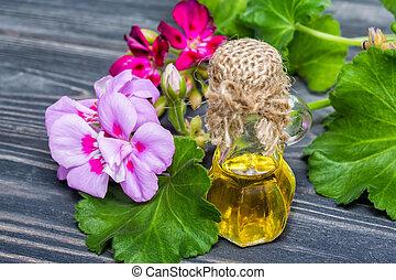 geranium, olie, essentieel