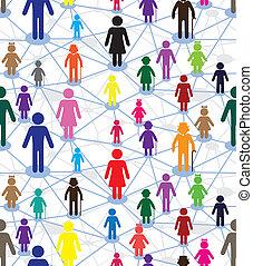 Geration diagram - Vector generation diagram, people web....