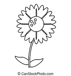 gerbera flower natural outline