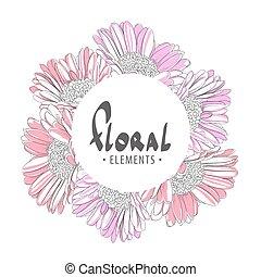 Gerbera flowers frame
