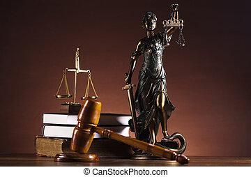 gerechtigheid schaal, en, gavel