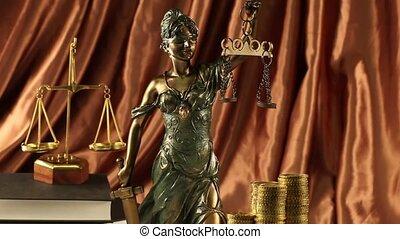 gerechtigkeit, gesetz, waage
