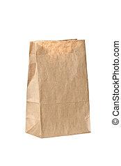gerecyclde, papier, bag.