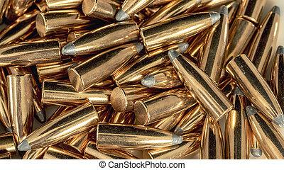 gereed, koper, inlading, kogels, velen