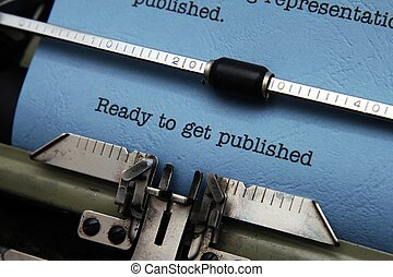 gereed, krijgen, gepubliceerde