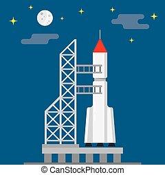 gereed, lancering, raket