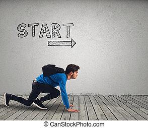 gereed, start