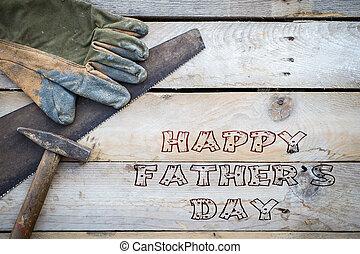 gereedschap, concept, concept, vaders, handyman, doe het zelf, dag