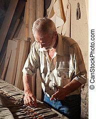 gereedschap, kies, meubelmakerij