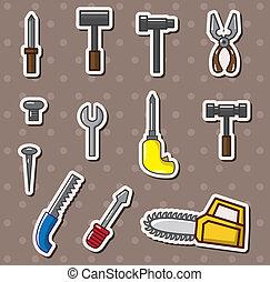 gereedschap, stickers