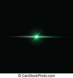 gerenda, elvont, vektor, zöld csillogó