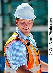 gerente, construção