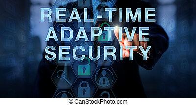 gerente, tocar, real-time, adaptável, segurança