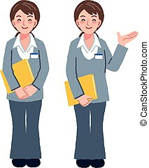 Geriatric care manager in different gestures
