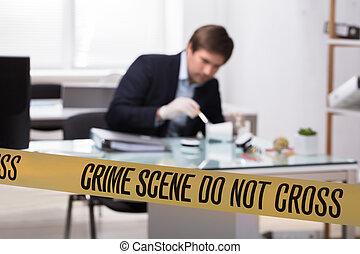 gerichtlich, beweis, suchen, experte, verbrechen