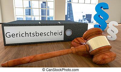Gerichtsbescheid - german word for court order or court ...