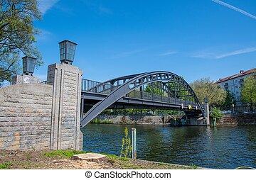 bridge crossing the Spree river in Berlin Germany