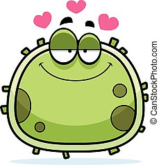 Germ Microbe Love - A cartoon illustration of a germ in...