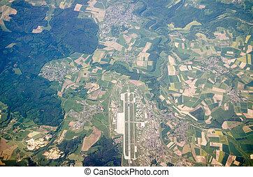 German Airport, Aerial View