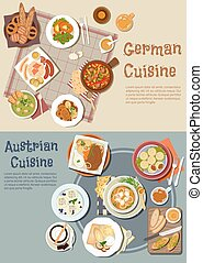 German and austrian hearty and comfort food icon - Hearty...