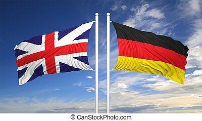 German and British flags
