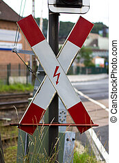 german andreas cross railway sign